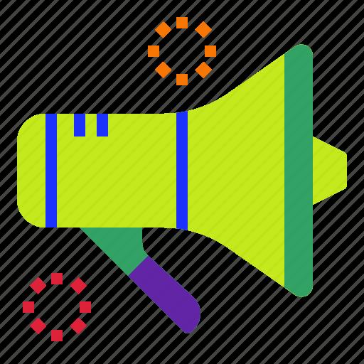 advertising, market, marketing, megaphone, sound icon
