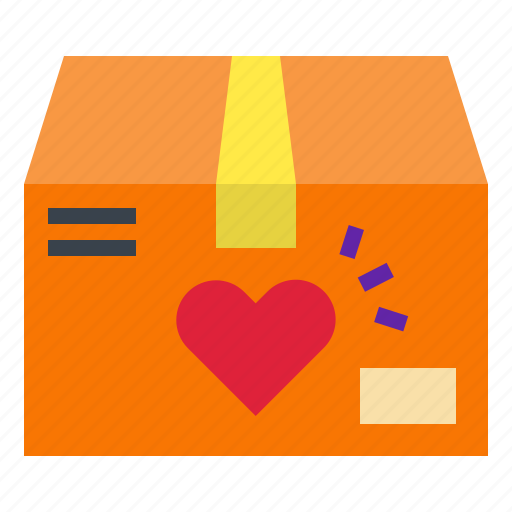 heart, package, passion, passionproduct, shipping icon