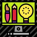 design, digitalart, idea, technology, tool icon