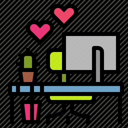 job, lovemyjob, pc, table, worktable icon