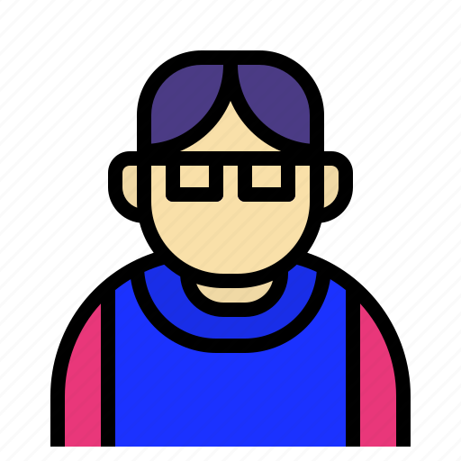 expert, geek, glassed, intellegence, nerd icon