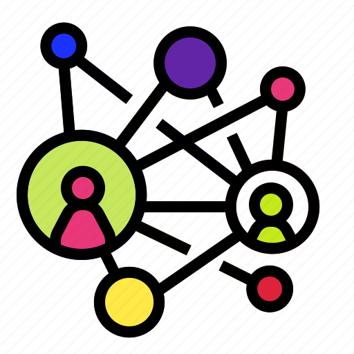 connection, link, network, partner, people icon