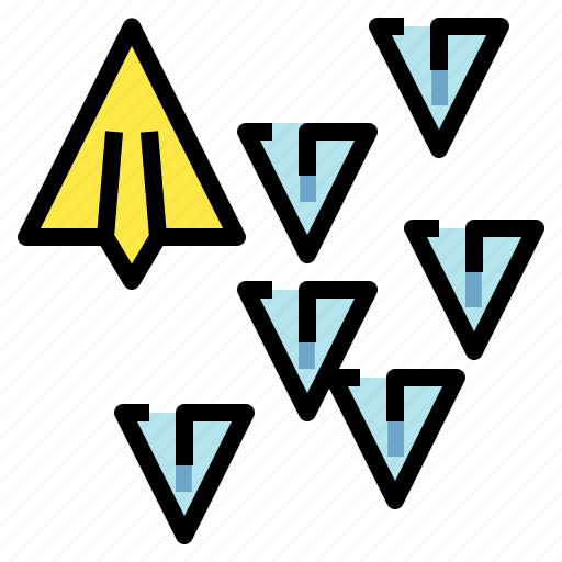fly, paperplane, plane, style, unique icon