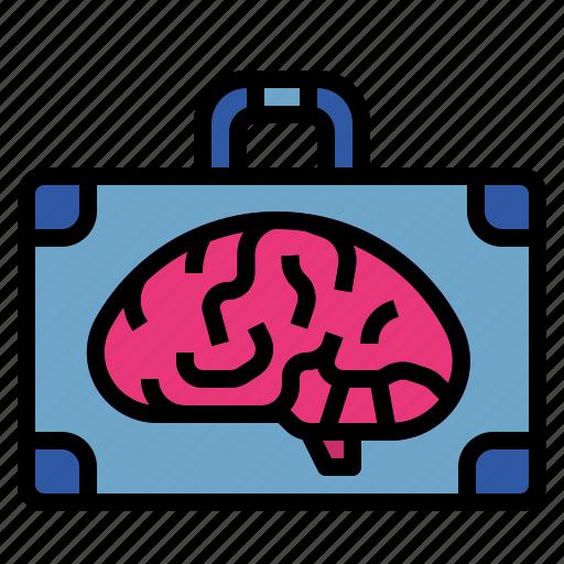 brain, briefcase, business, smart, smartbusiness icon