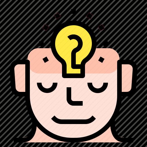 creative, idea, lightbulb, thinking icon