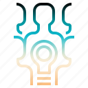 brainstom, criticalthink, ideateam, teamwork icon