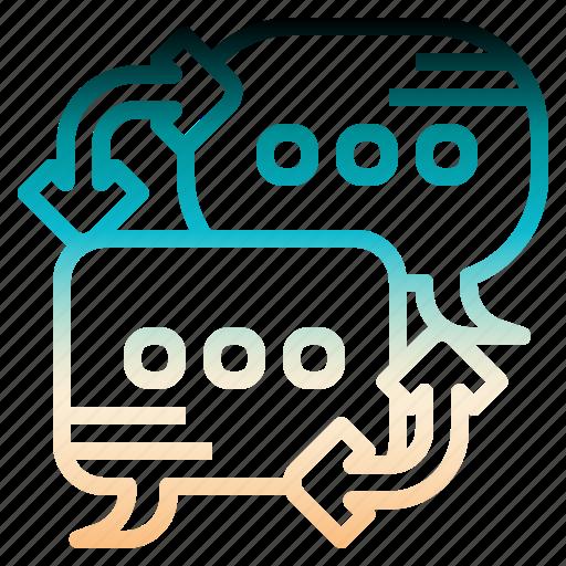 brainstom, bubble, discuss, discussion, speech icon