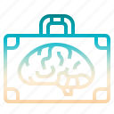 brain, briefcase, business, smart, smartbusiness icon
