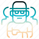 beard, creative, hat, senior, teamwork icon