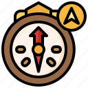 compass, location, pin, placeholder, map