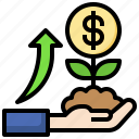 growth, money, investment, plant, currency