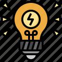 idea, light, bulb, electricity, technology, illumination