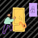 progress, open, access, unlock, enter, lock, feature, product, unlocked, door, level