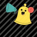message, bullhorn, app, receive, notification, alarm, alert, product, ring, bell