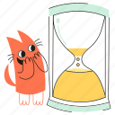 product, clock, soon, cat, waiting, loading, hourglass, coming, wait, expectation, happy