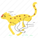 animal, delivery, cat, deliver, leopard, product, move, quick, run, wild, fast, rapid, speed, cheetah