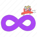 infinite, happy, content, access, unlimited, product, woman, infinity, car, unlocked