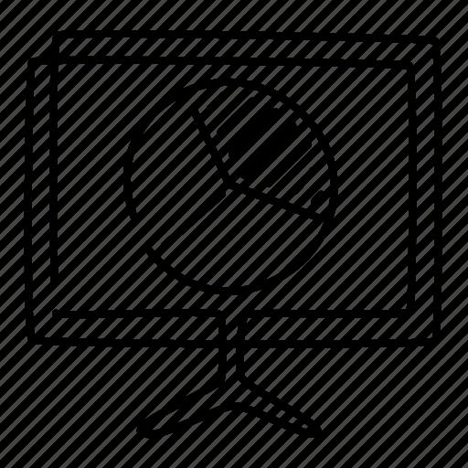 chart, diagram, graph, monitor, pie, startup, statistics icon