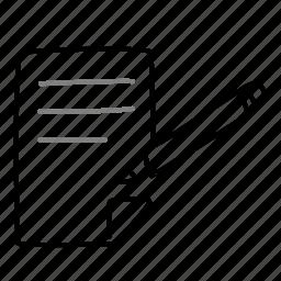 document, edit, pencil, rewrite, write icon