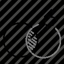 aim, arrow, direction, identity, startup, target icon