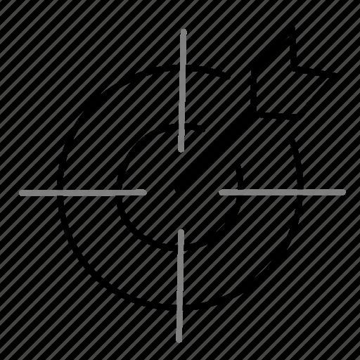 focus, goal, startup, target icon