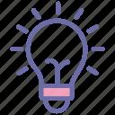 computer, startup, enter, bulb