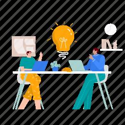 idea, innovation, lightbulb, think