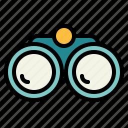 binoculars, goggles, see, spy icon