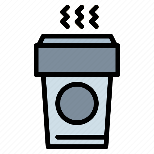 coffee, cup, drink, hot, paper icon