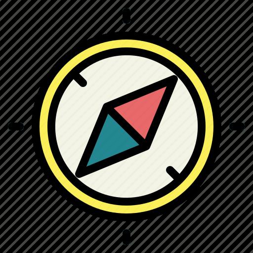 compass, direction, location, orientation icon