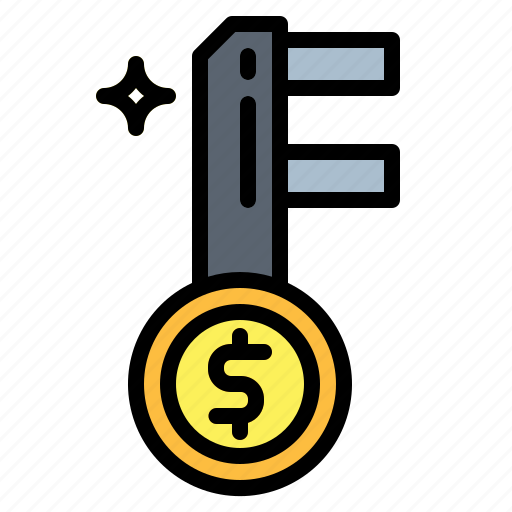 access, key, money, passkey, security icon