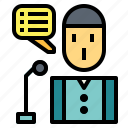 micro, microphone, presentation, speech icon