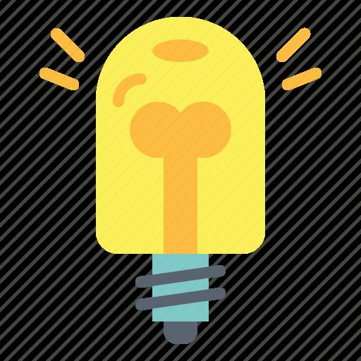 bulb, electronics, idea, invention, light icon
