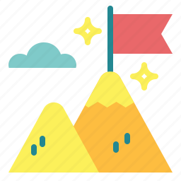 goal, landscape, mountain, nature icon