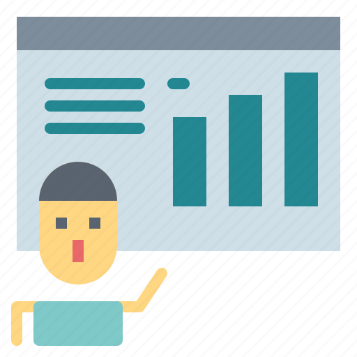 business, chart, finances, financial, presentation, statistics icon