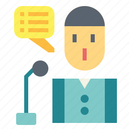 micro, microphone, presentation, speech icon