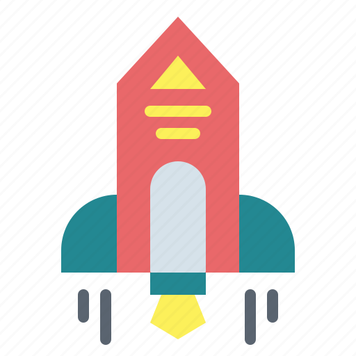 rocket, ship, space, startup icon