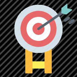 archer, arrow, sport, target, weapons icon