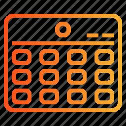 calendar, date, organization, schedule icon