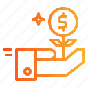 business, currency, growth, money icon