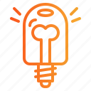 bulb, electronics, idea, invention, light icon