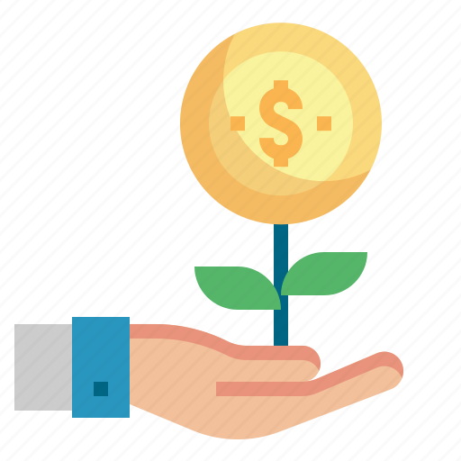 coin, finance, growth, investment, money icon