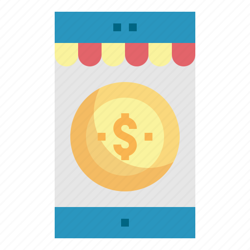 coin, mobile, payment, purchase, shopping icon
