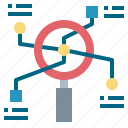 analysis, data, information, research icon