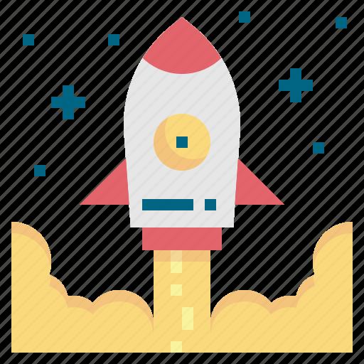 business, rocket, spaceship, startup icon