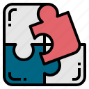 puzzle, jigsaw0a, solution, business icon