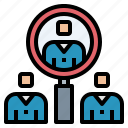 human, interview, people, resources icon