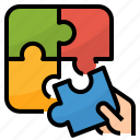 business, company, jigsaw, puzzle, solution icon