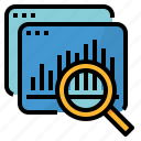 analysis, data, proposal, research, summarize icon