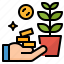growth, investment, money, profit icon